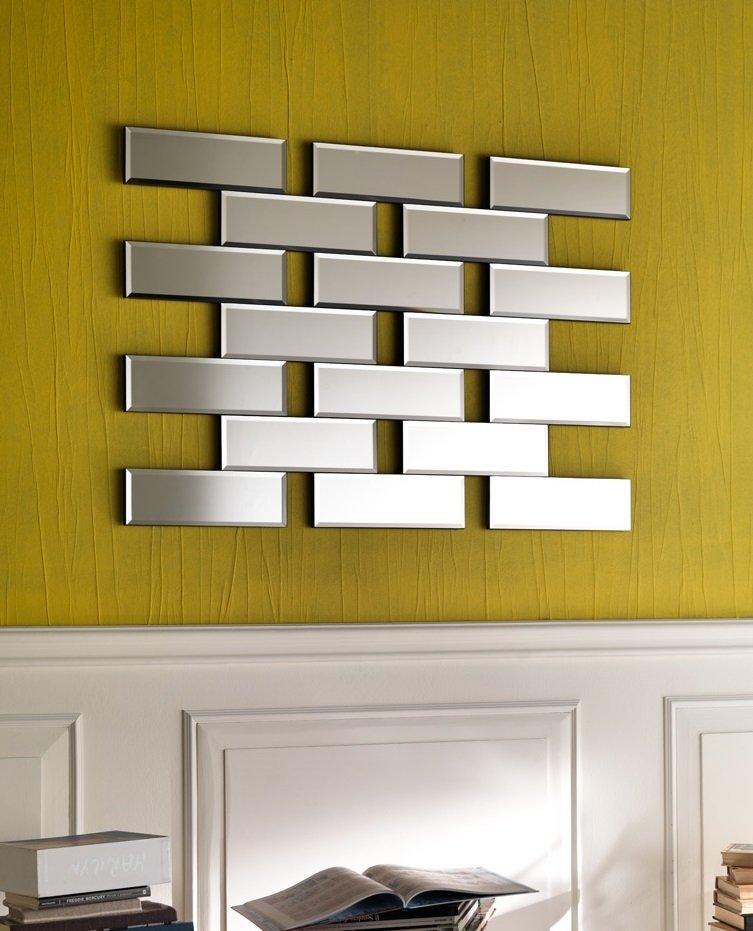 Specchio moderno mattoncino da muro rettangolare - Specchio moderno ...