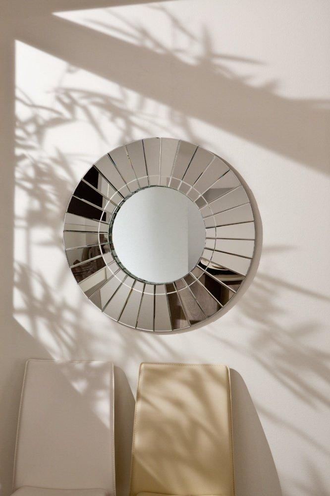 Specchio moderno rotondo lavorato da muro 80cm - Specchio rotondo ...