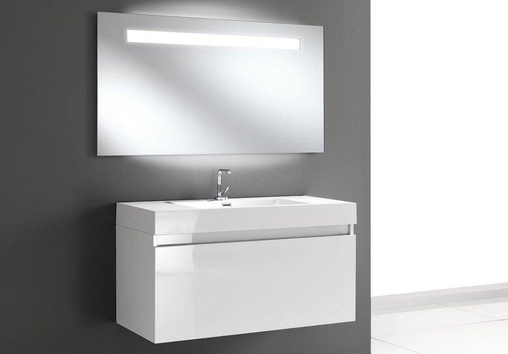 Specchio moderno da bagno con luci led laterali - Specchio per bagno con luce ...