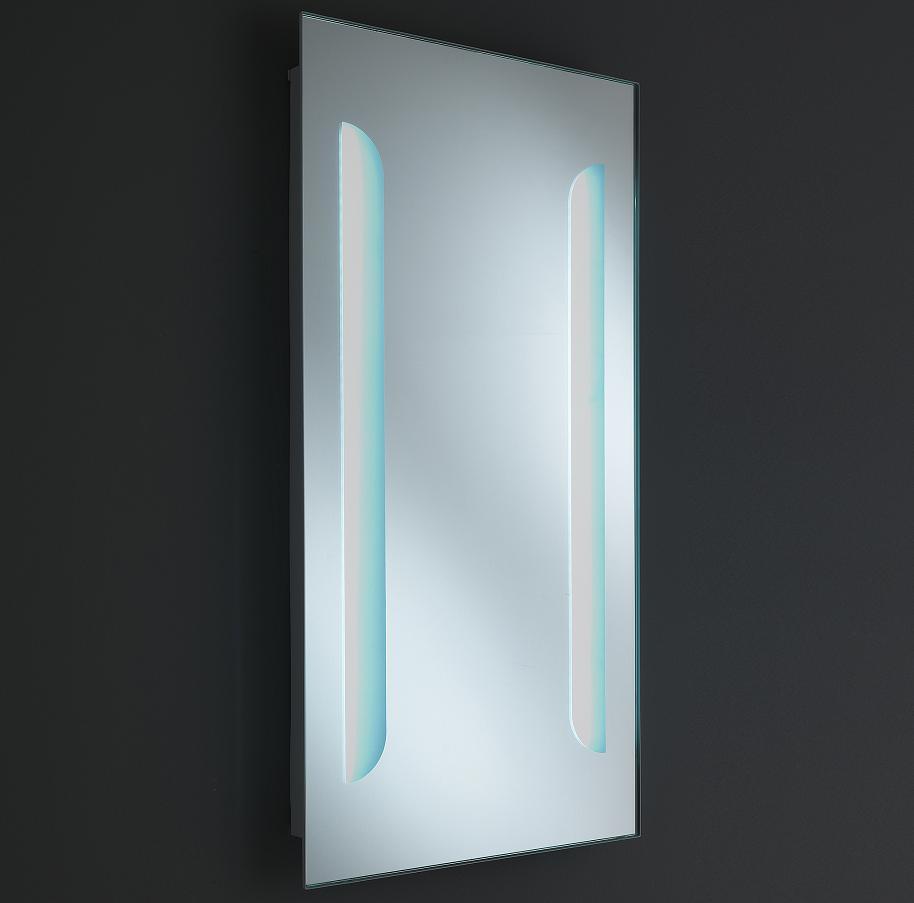 Specchio moderno da bagno con luci led laterali - Luci a led per specchio bagno ...
