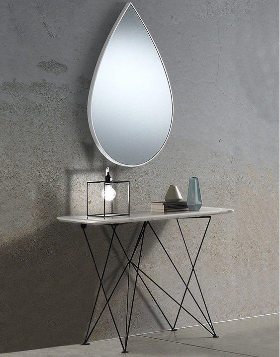 Specchio Moderno da Muro a Forma di Goccia