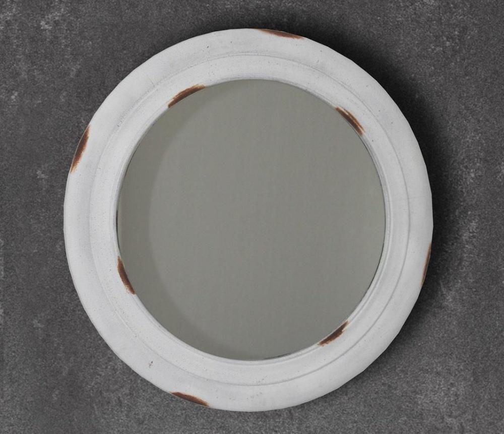Specchio tondo rotondo invecchiato bianco - Specchio invecchiato ...