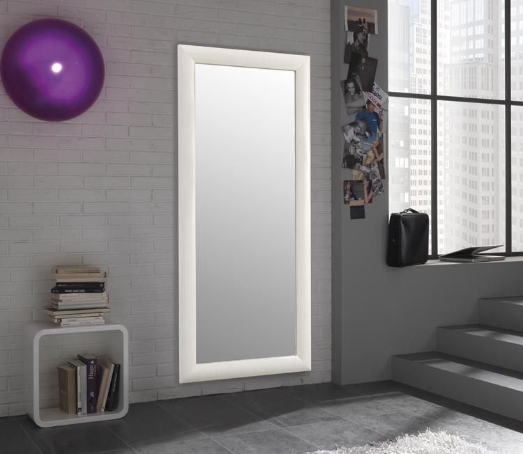Specchio da parete con cornice semplice moderno - Parete a specchio ...