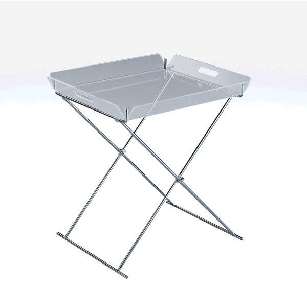 Tavolino Con Vassoio Asportabile.Tavolino Comodino Moderno Con Vassoio Estraibile Trasparente
