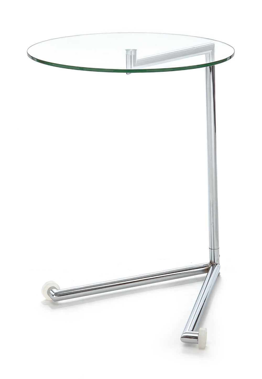 Tavolino Con Le Ruote.Tavolino Comodino Con Ruote In Vetro E Metallo