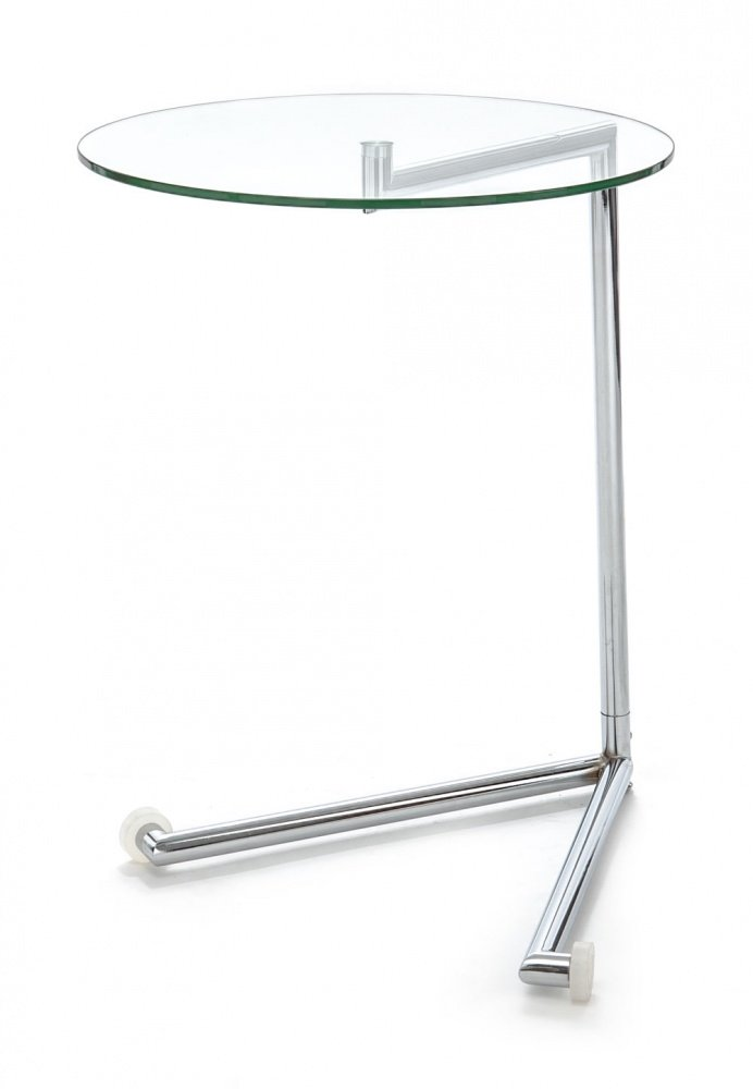 Tavolino comodino con ruote in vetro e metallo - Tavolino comodino ...