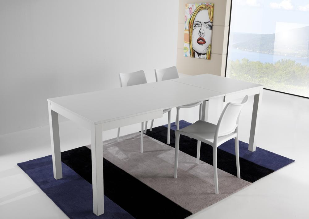 Tavolo moderno a v in pietra fossile e vetro for Tavolo consolle allungabile legno massello