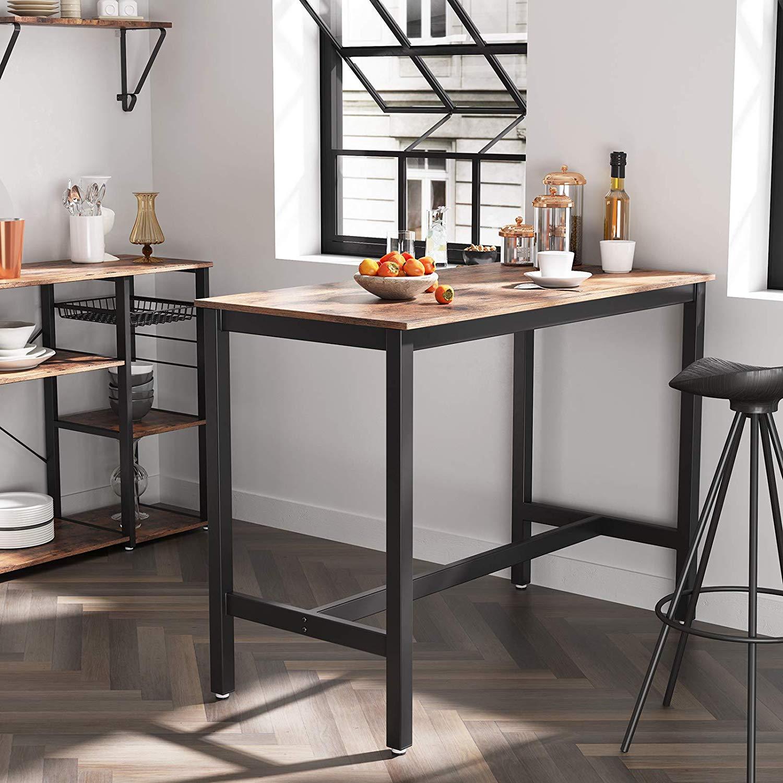 Tavolo Bar Bancone 2 Sgabelli Stile Industriale Da Cucina