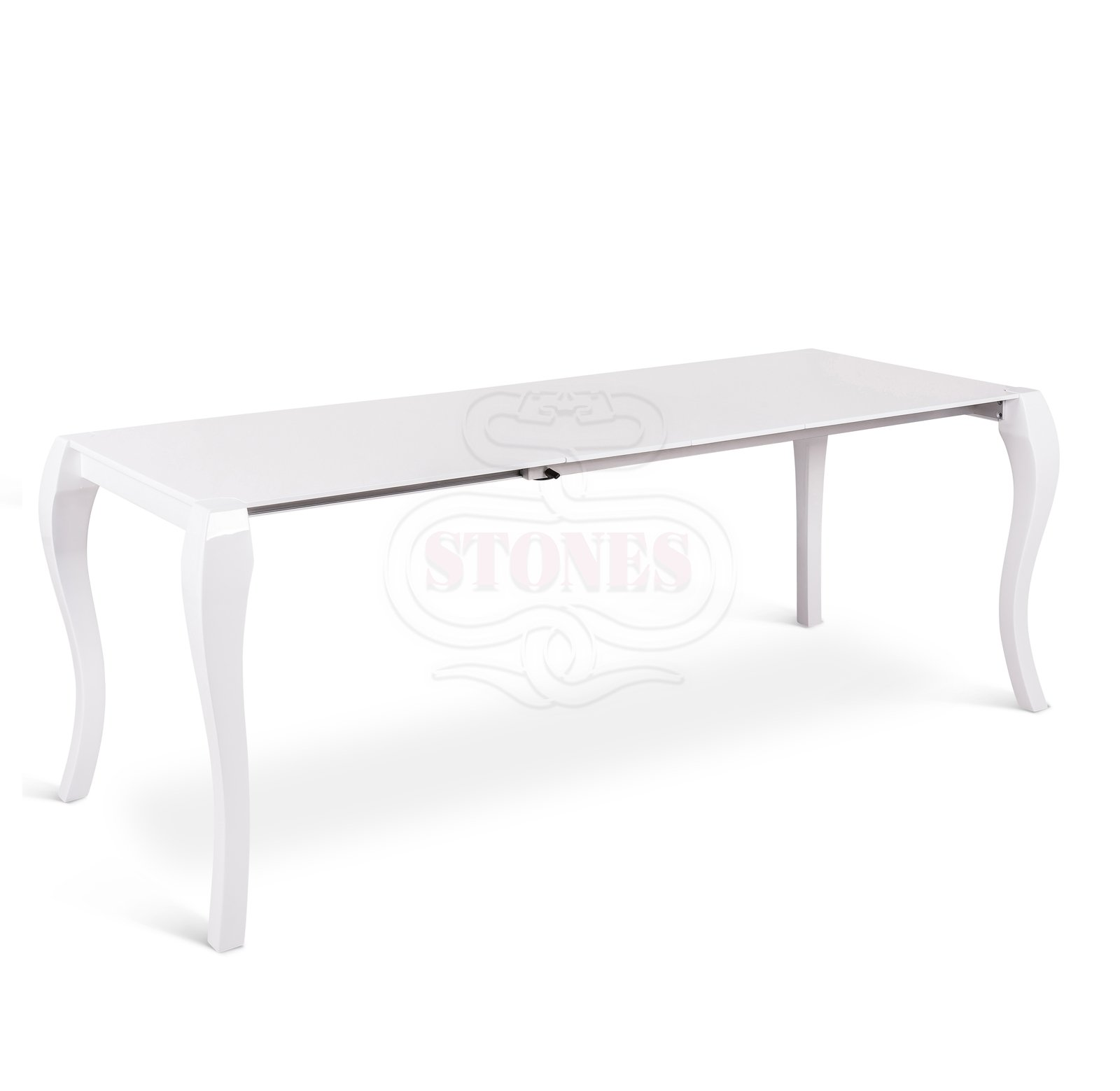 Tavolo Laccato Bianco Allungabile.Tavolo Impero Laccato Bianco Allungabile Fino A 288 Cm