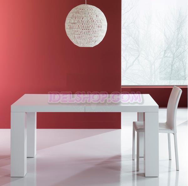 Tavolo moderno bianco opaco allungabile ebay for Tavolo cucina moderno bianco