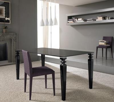 Tavoli e consolle - Tavolo in vetro nero ...