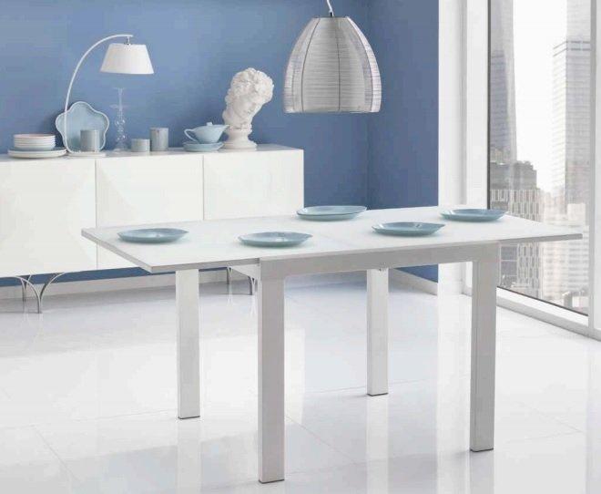 Tavolo In Vetro Bianco Allungabile.Tavolo Quadrato Allungabile In Vetro Bianco