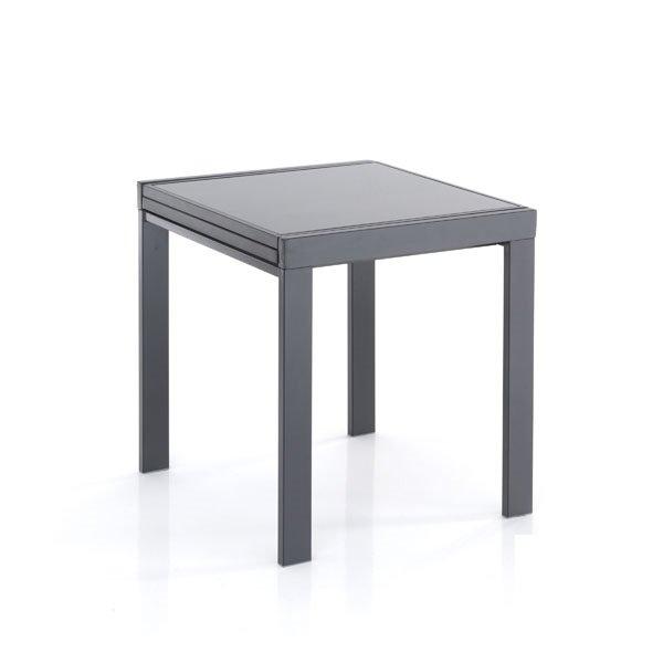 Tavolo moderno a v in pietra fossile e vetro - Dimensioni tavolo cucina ...