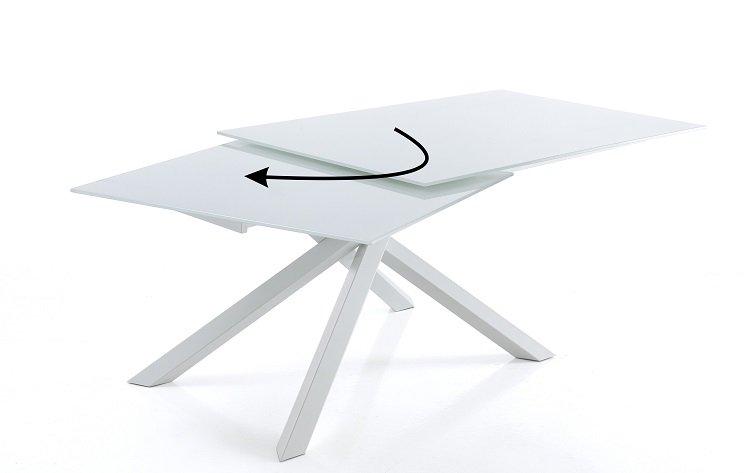 Tavolo Da Pranzo Allungabile Vetro.Tavolo Da Pranzo Allungabile In Vetro White