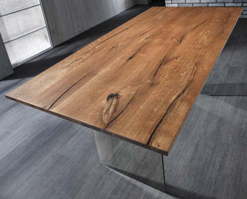 Tavolo da pranzo rettangolare in legno e vetro ebay for Tavoli da pranzo in legno