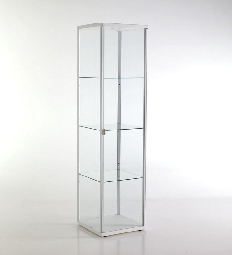 Vetrinetta moderna in alluminio colore bianco for Vetrinetta moderna