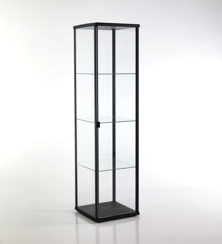 vetrinetta moderna in alluminio colore nero