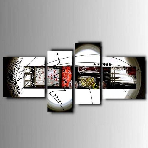 4 quadri moderni astratti colorati dipinti a mano for Quadri moderni astratti dipinti a mano