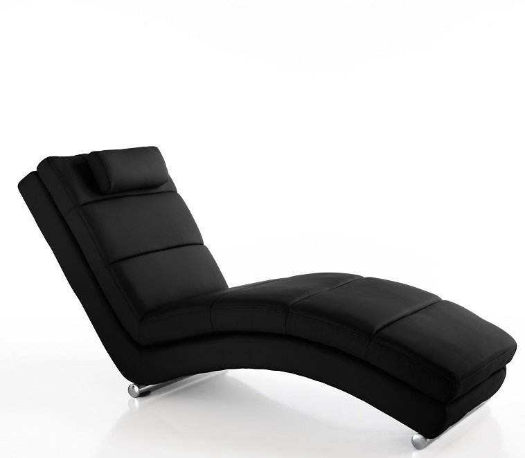 Chaise Longue Dormeuse Moderna colore Nero