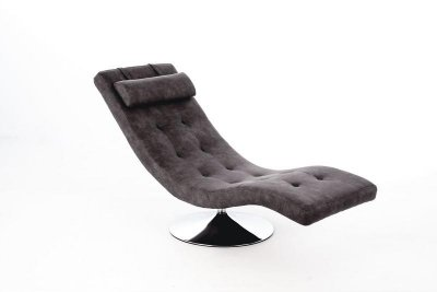 Chaise Longue Dormeuse in Similpelle Grigio Vintage