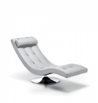Chaise Longue Dormeuse in Similpelle colore Bianco