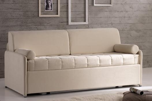 Divano doppio letto singolo con reti a doghe e materassi for Costo divano letto