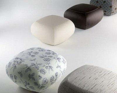 Pouf girevole seduta aggiuntiva bicolore for Pouf da salotto